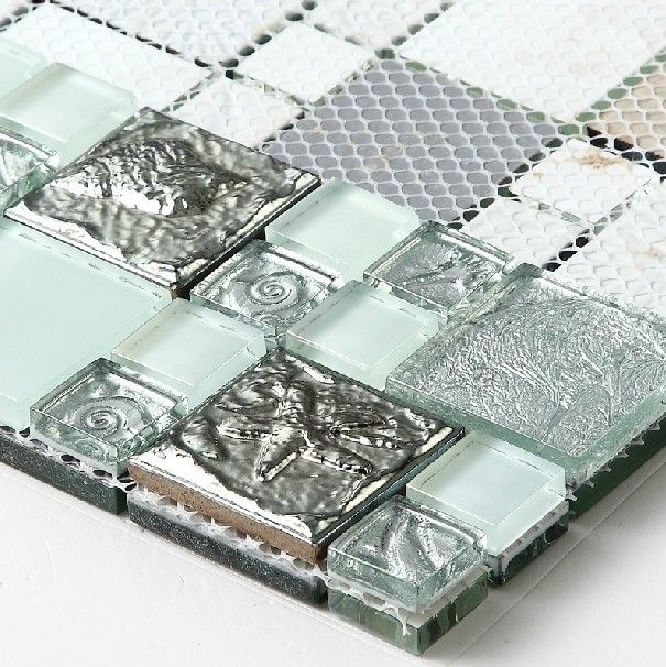Gl Mosaic Tiles Ssmt255 Silver Metal Stainless Steel Tile