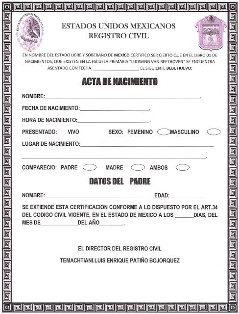 LUDWING VAN BEETHOVEN 6º A MATUTINO: ACTA DE HUEVO BEBE | bebe q ...