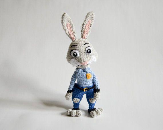 Crochet PATTERN Judy Hopps from Zootopia/ Zootropolis by Krawka