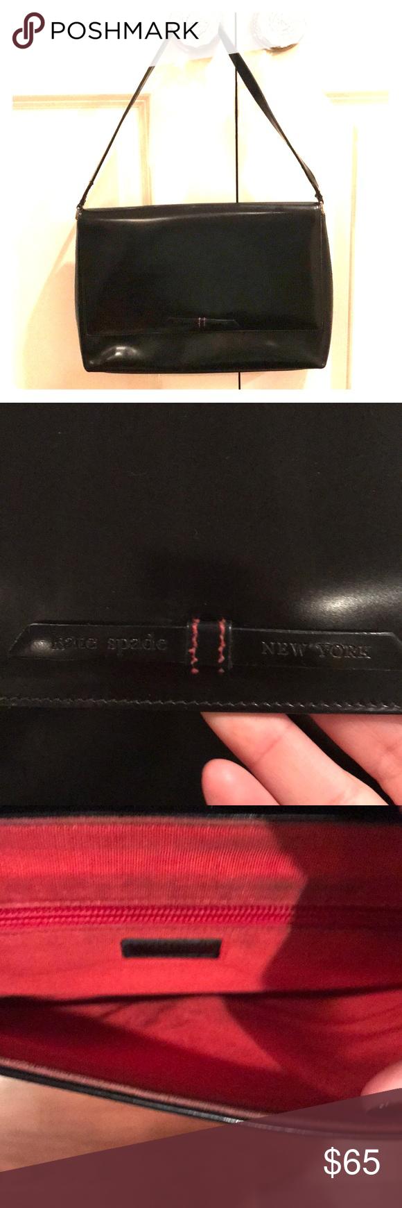 665bcb0491 Kate Spade black handbag A true classic ! Kate Spade black patent leather  shoulder bag in