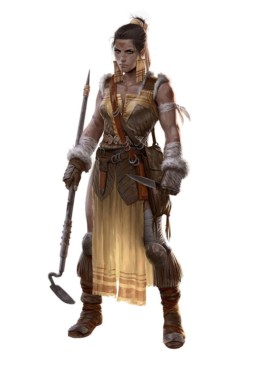 Marko Djurdjevic (I like this one as a believable female fighter. She has actual muscles and presents a threat best not overlooked. The sharpened hoe is interesting -- seems like there's a story there.)