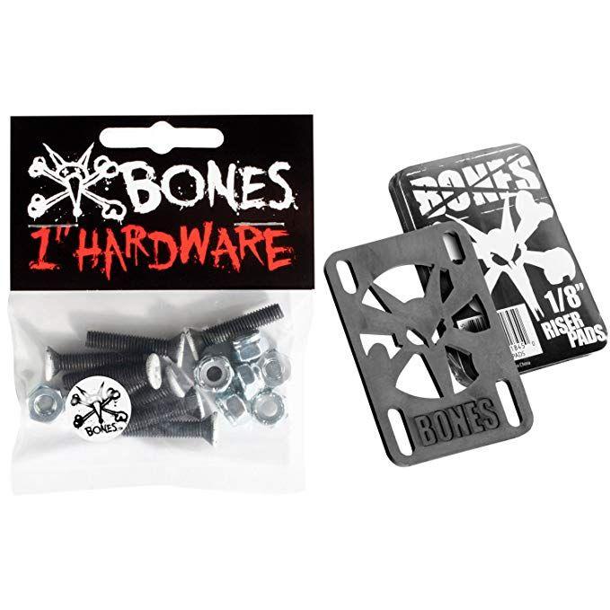 Bones Skateboard Hardware Riser Pad Kit 1phillips Black White 1 8risers Review Skateboard Parts Peralta Powell Peralta