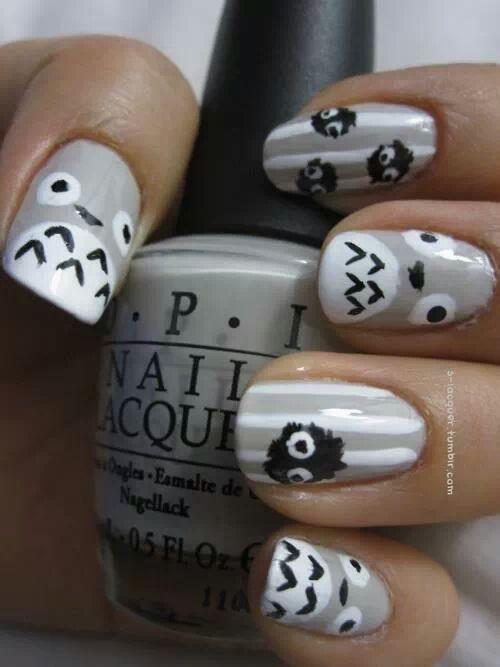 69 Totoro Nails Tumblr Nails Pinterest Nail Art Nails And