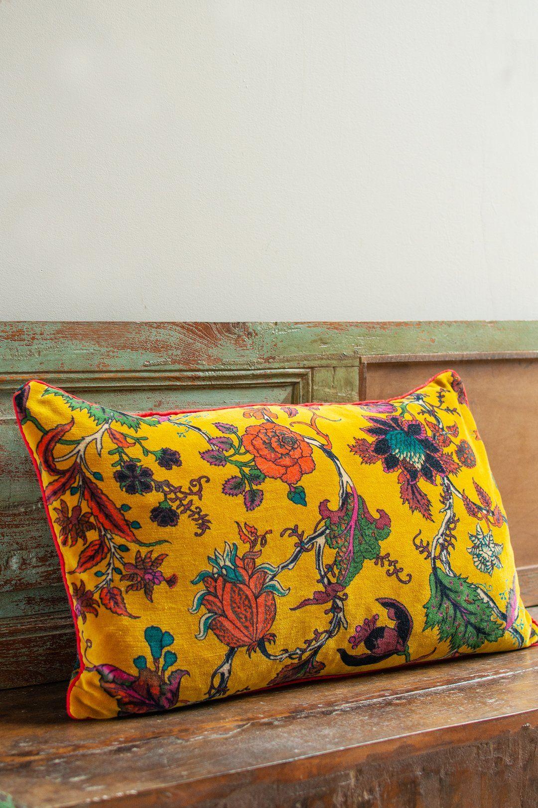 Mustard Florals Cushion