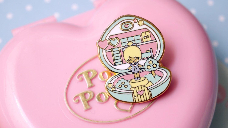 Enamel pin polly pocket style chic kawaii magic pastel kawaii cute pins heart