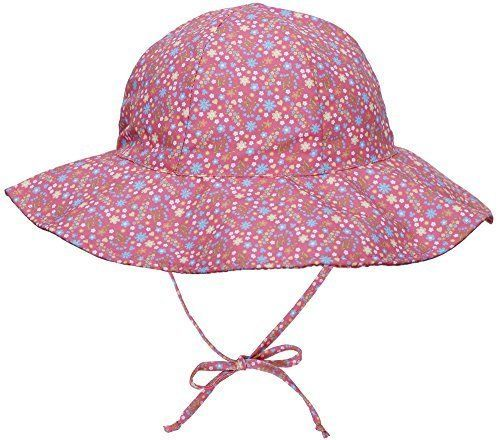 068645f757a18 ThunderCloud Baby 50+ SPF UV Wide Brim Bucket Sun Hat Pink Flower 2-4 Years  Hats  ThunderCloud