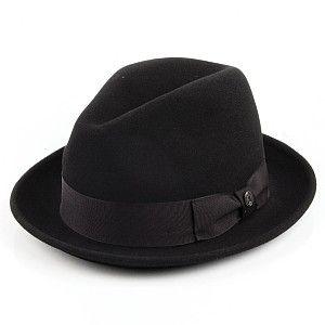 Fur Felt Pinch Crown Trilby - Black  ec6df7d83ba2