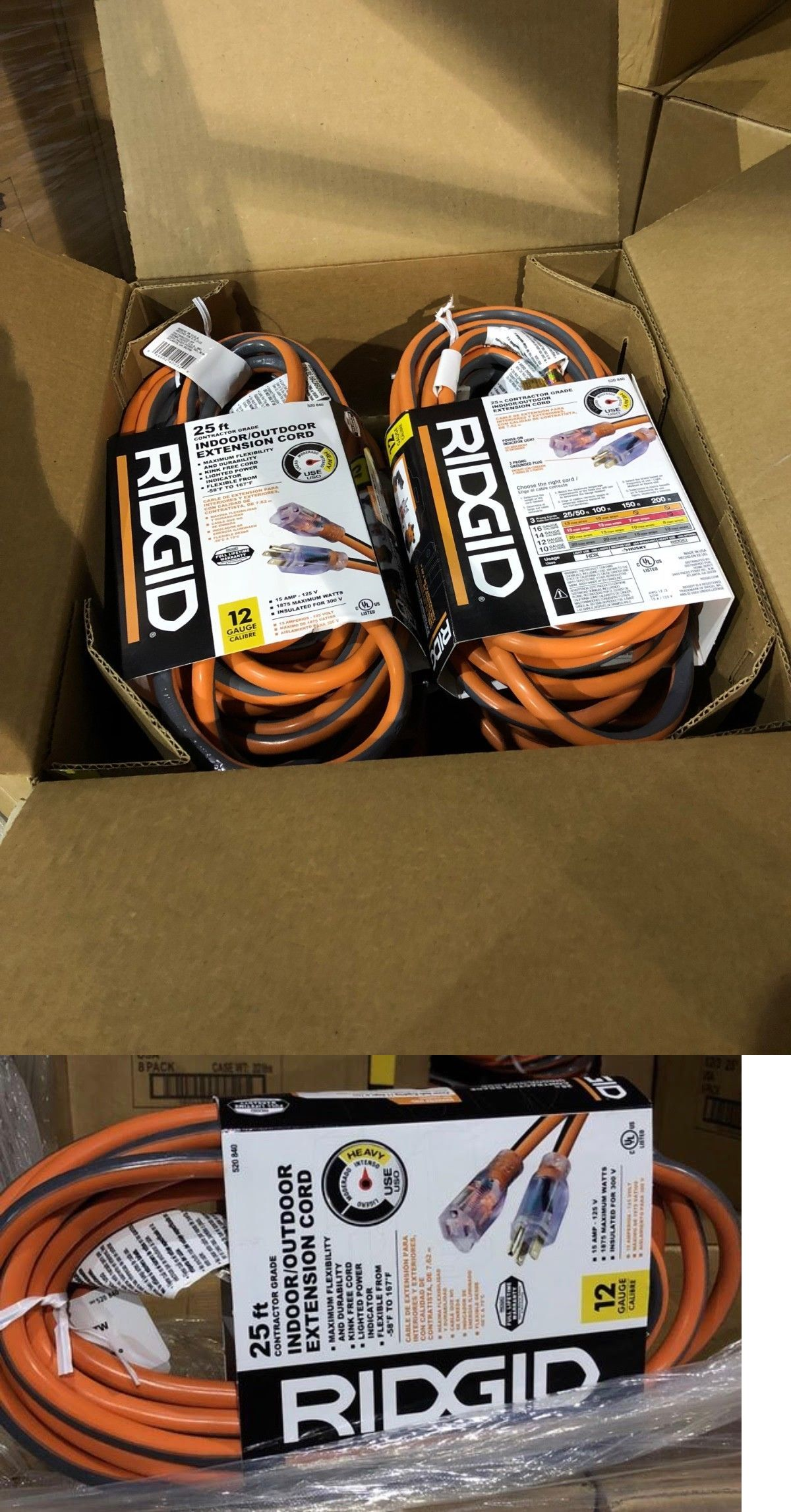 Extension Cords 75577 2 X Extension Cord Ridgid 25 Ft 12 Gauge Outdoor Heavy Duty Buy It Now Only 47 95 On Ebay Extension Extension Cord 12 Gauge Cord