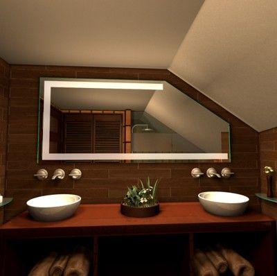 Badspiegel für Schräge Spiegel für Dachschräge | Bathroom ...