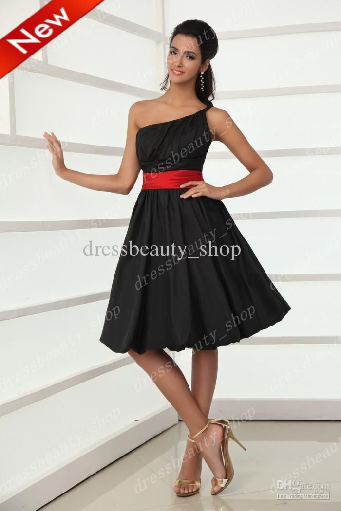 Wholesale Bridesmaid Dresses Buy 2013 Taffeta Little Black And