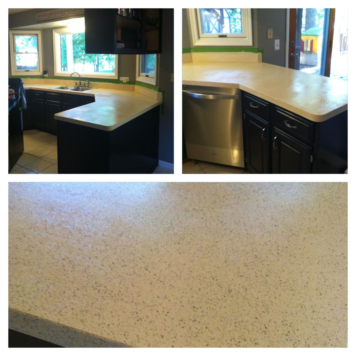 Messy Kitchen Counter: Rustoleum Countertop Transformations. Color Is Pebbled