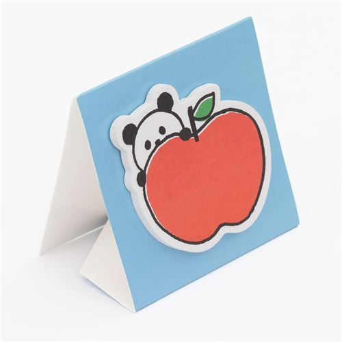 cute panda apple sticky note memo Note Pad with stand from Japan  3