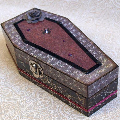 coffin jewelry box DIY Wood Pinterest Box Gothic halloween