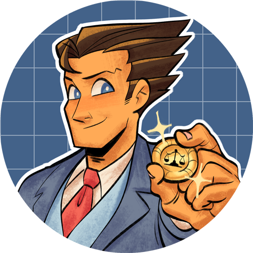 Ace Attor Nay We Re Here To Save The Day Made Some New Ace Attorney Buttons A Special Heart Shaped Miles Feenie Button Phoenix Wright Anime North Ace