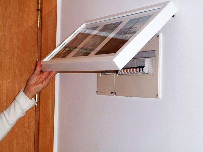 Como esconder quadro de luz entrada recibidor y hall de - Tapa cuadro electrico ikea ...