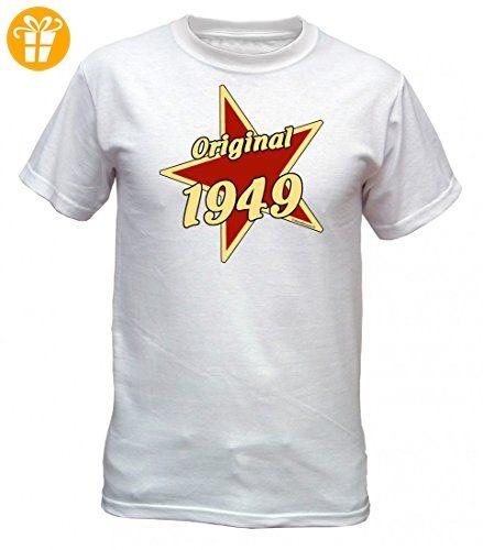Birthday Shirt - Original 1949 - Lustiges T-Shirt als Geschenk zum Geburtstag - Weiss, Größe:S (*Partner-Link)