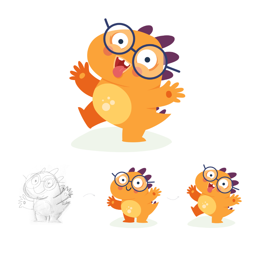 Dino Nicola Character for Kids Mobile App on Behance in