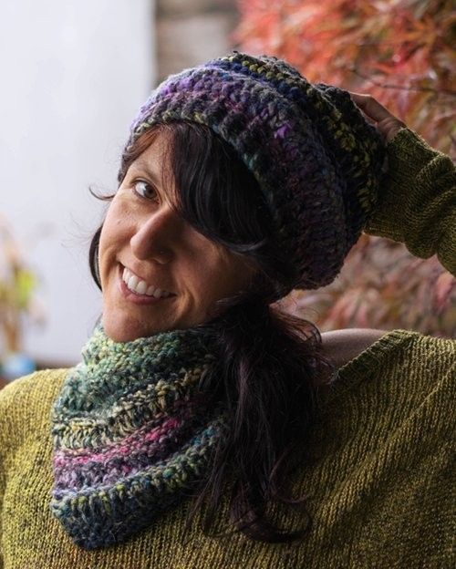 Bulky Dropstitch Hat And Cowl, Loom Knitting Pattern