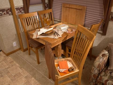 Free Standing Dinette Table And Four Storage Chairs Dinette