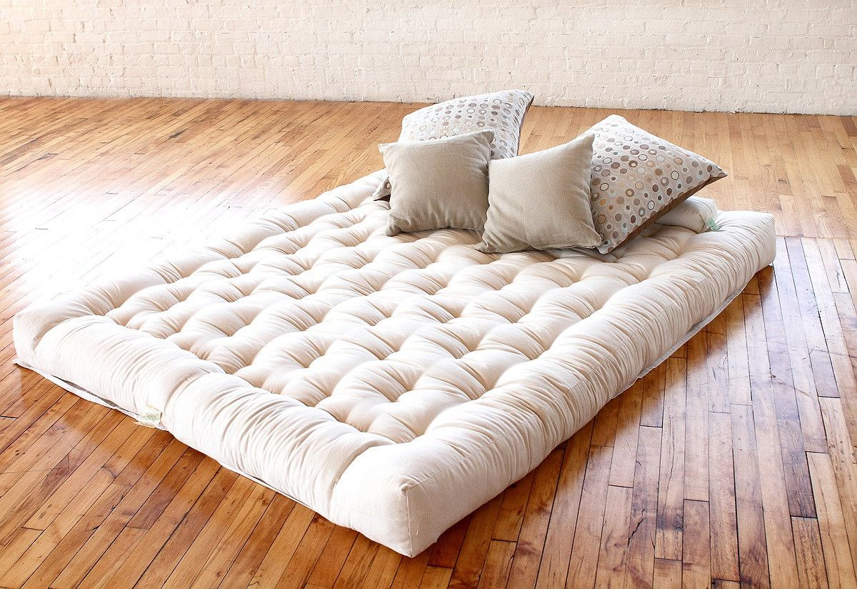 Japanese futon bed frame - Cozy Japanese Futon Mattress Ideas With Pillows And Hardwood Flooring Japanese Futon Mattress Quality