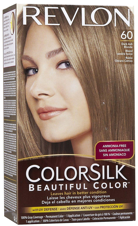 Revlon Colorsilk Beautiful Haircolor Ammonia Free Permanent Haircolor Dark Ash Blonde Revlon Colorsilk Hair Color Dyed Blonde Hair