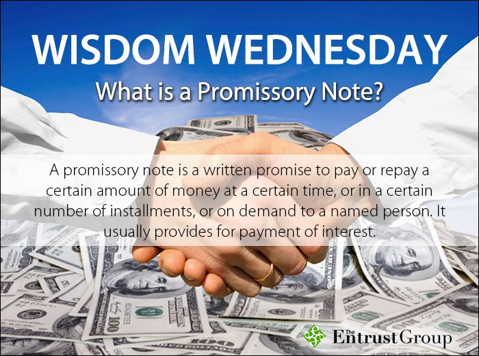 Itu0027s Wisdom Wednesday! How are promissory notes related to - promissory notes