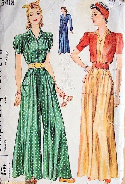 Simplicity 3418 A | Mode 1920, Vintage kleidung und Kleider machen leute