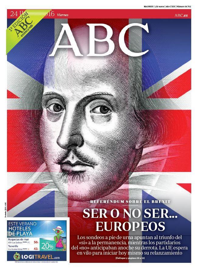 La portada de ABC del viernes 24 de junio
