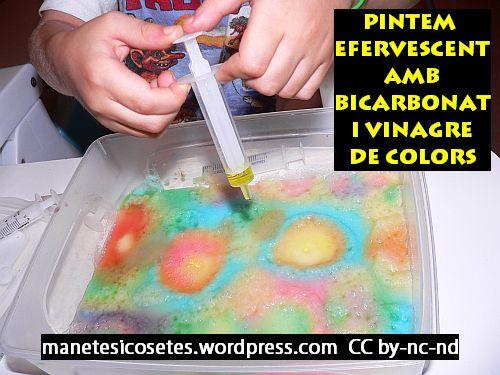Pintem Amb Bicarbonat I Xeringues De Colors Efervescents