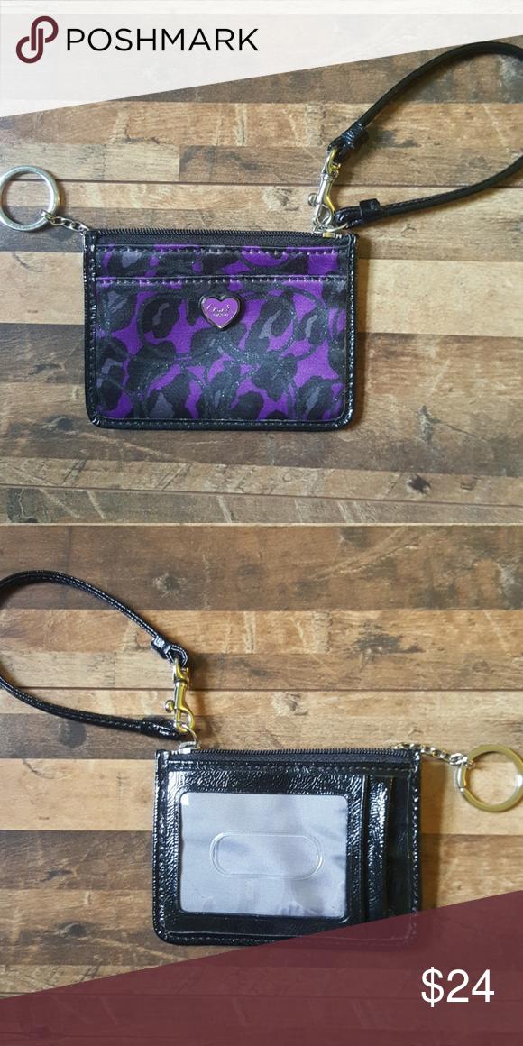 🔥Like New Coach card & money wristlet