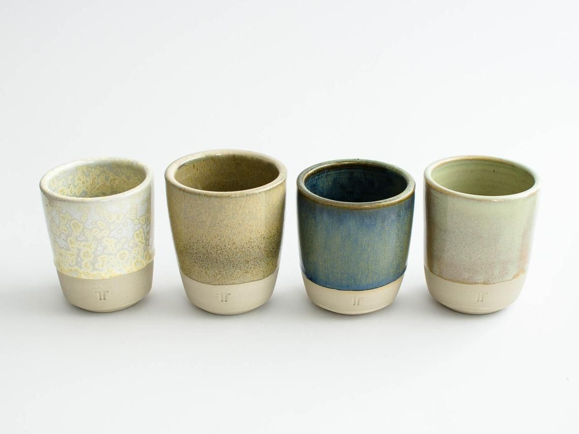 Mug In Polarblau Blue Mug Without Handles Dishes Of Noton Ceramics Keramik Geschirr Tassen Getöpferte Tassen