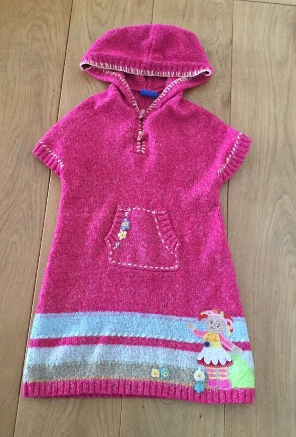Next upsy daisy in the night garden pink knitted little girls dress ...