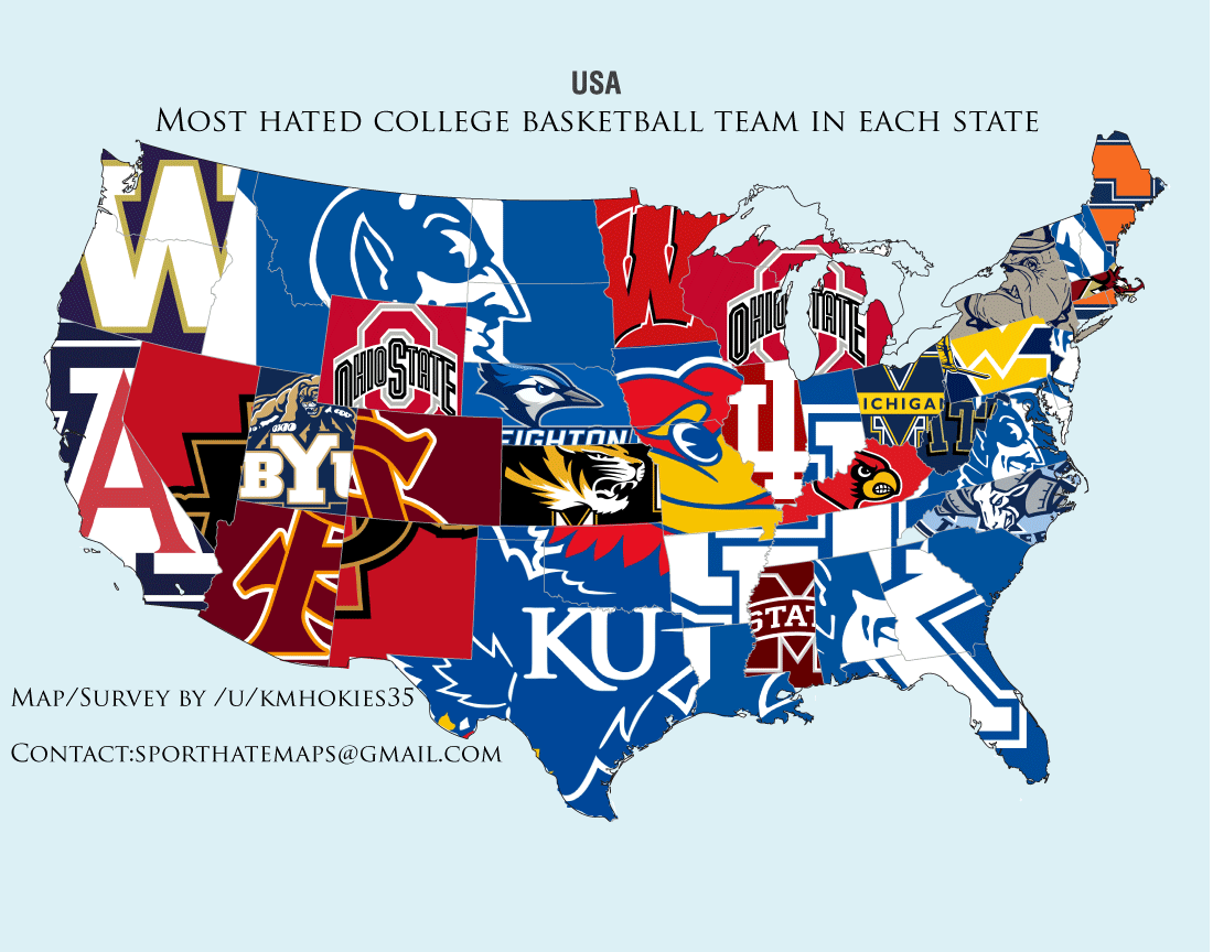 College Basketball Google Search D Big Ten Conference - Map of us baseball teams