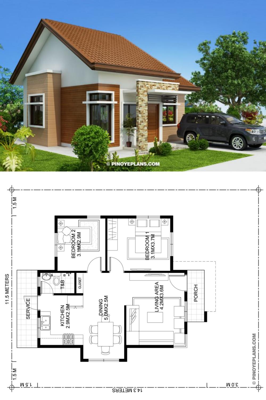 39+ 2 bedroom modern house info