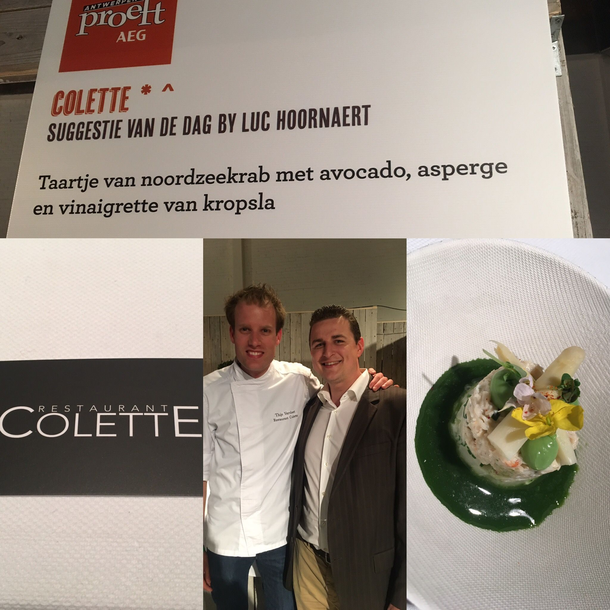 Topgerecht bij een topchef! @thijs_vervloet @restaurantcolette ⭐️#zeepboerkeonlineiswaw #uwconsulentindetergent #yoursolutioniswaw #horecamaterialen #webshop #michelinstar#foodporn #chefinstagram