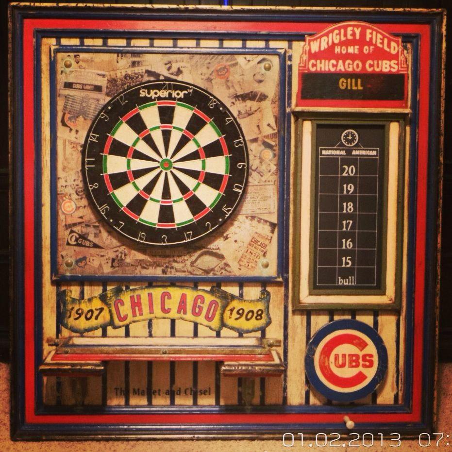 Chicago Cubs dartboard   Dartboards, dart boards and darts