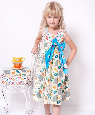 c79c506d6b4 Take a look at this White   Teal Elle Bow Dress - Infant