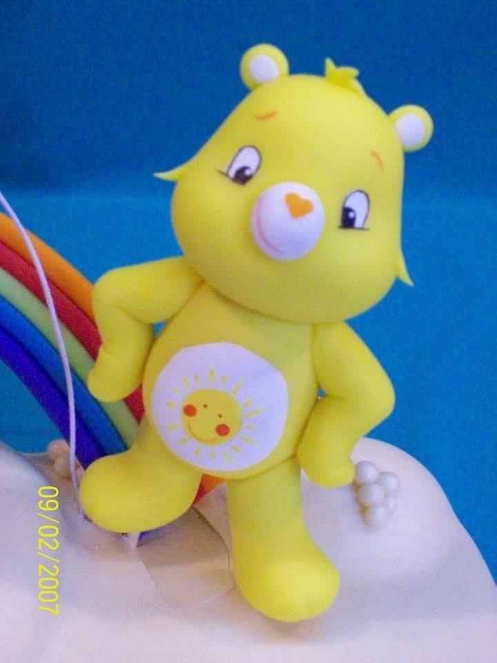 Sunshine bear d cors g teaux bear cold porcelain et - Bisounours soleil ...