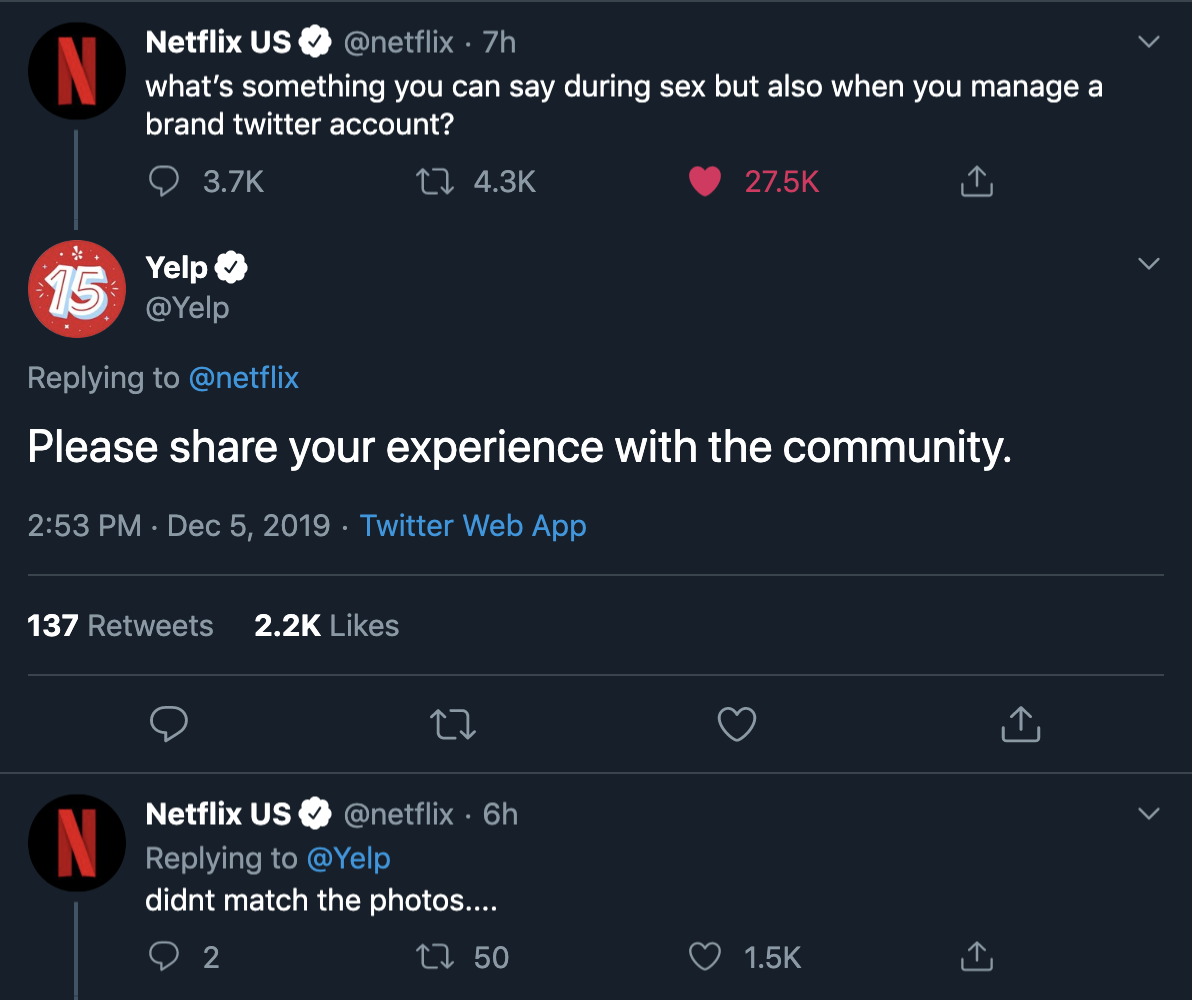 Yelp on Twitter Netflix us, Yelp, Twitter web