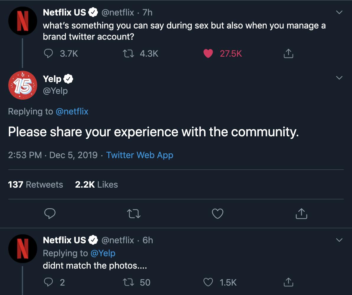 Yelp on Twitter Netflix us, Yelp, Twitter web