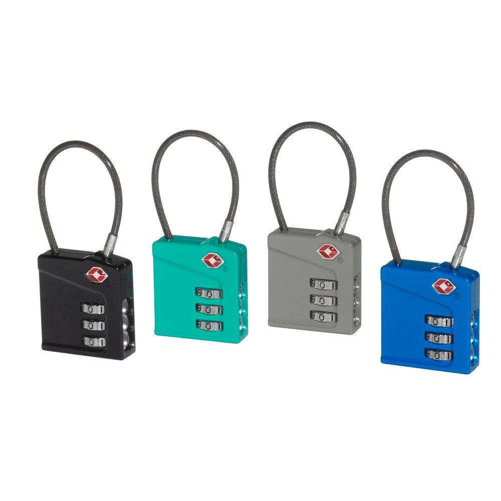 Magnified combo lock makes large easytosee numbers