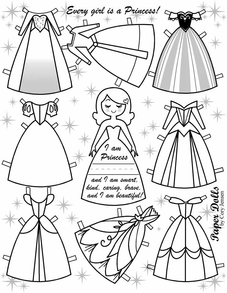Colouring Page Princess Paper Dolls Paper Doll Template Disney Paper Dolls Princess Paper Dolls