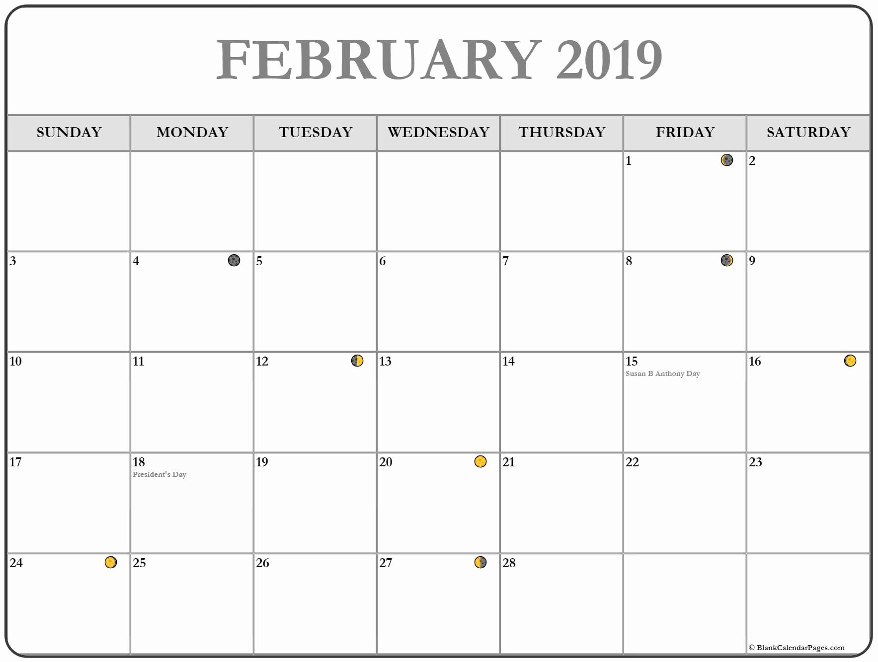 Lunar Calendar February 2019 August Calendar Calendar Printables 2019 Calendar