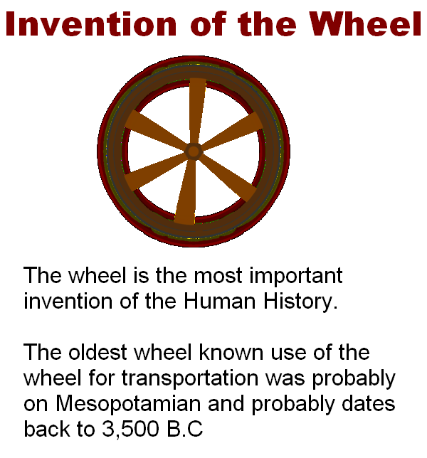 uses of wheels in modern times