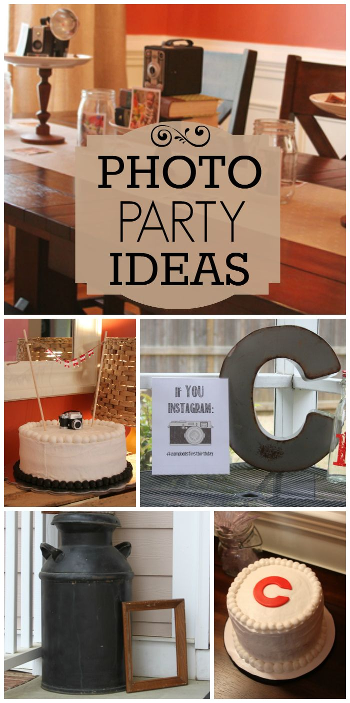 Love the vintage details at this photo party for a 1st birthday! See more party ideas at CatchMyParty.com!