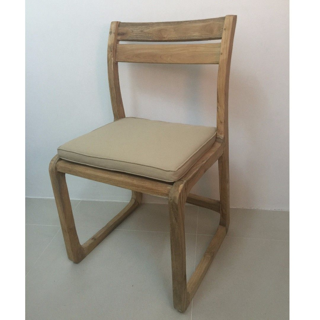 Buy Dining Chair Teak N In Singapore Singapore Dining Chair In Teak Wood With Cushion Natural Finishing 47x50x83cm Dining Room Chairs Dining Chairs Buy Chair