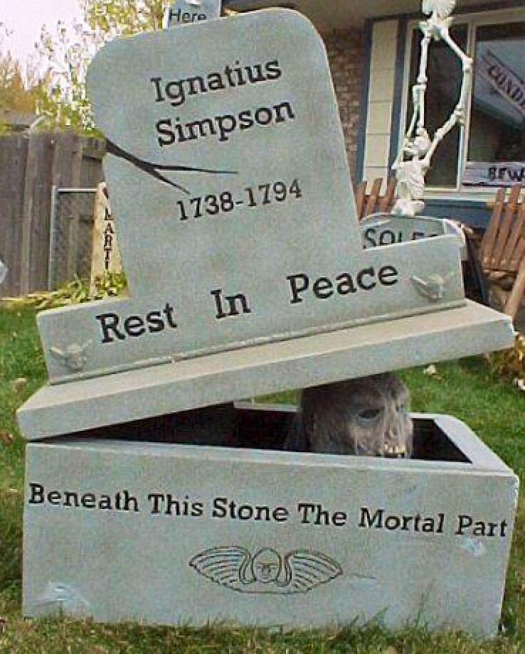 Another home haunters stone Tombstones Pinterest Stone - scary halloween props