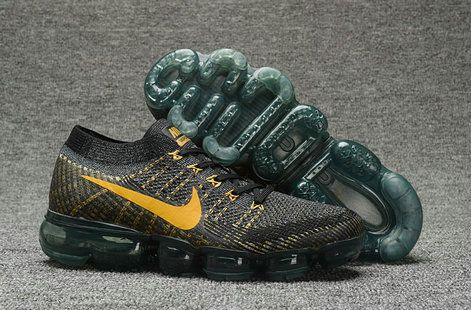 Nike Air VaporMax Shop with Confidence Nike Air VaporMax Flyknit 759234 066  Black Gold Shoe For