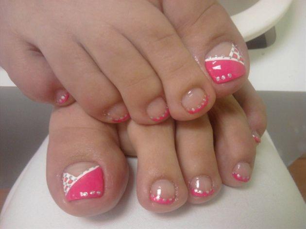 Stylish Ladies Pink Nail Art for Toes - Stylish Ladies Pink Nail Art For Toes Nail Art Pinterest Hot