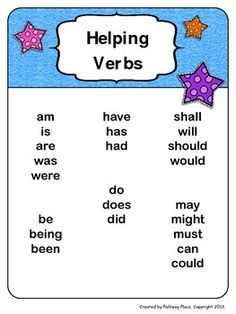 main verbs in english pdf